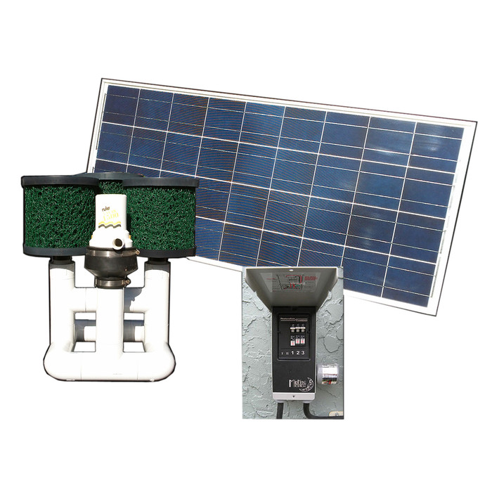 Bottom Feeder 15000 Gallon Pond 120-watt Solar Pump and Filter System