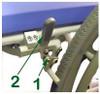 "Wheel Locks For 24"" Large Rear Wheel"