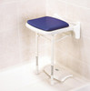 Padded Fold Up Shower Seat Blue Pad AKW-02200P