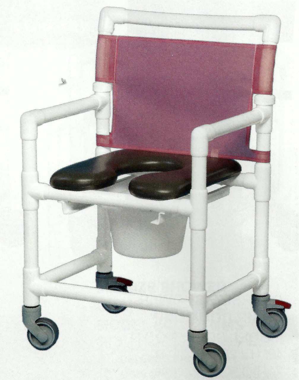 Mid Size Open Front Soft Seat Shower Chair - CareProdx