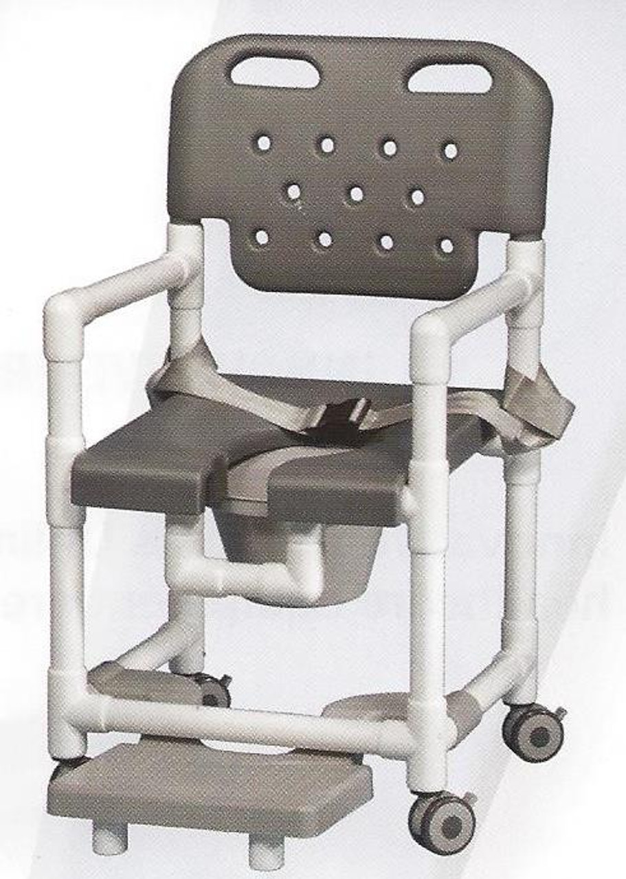 Elite Series Rolling Shower Chair With Seat Belt And Footrest ...