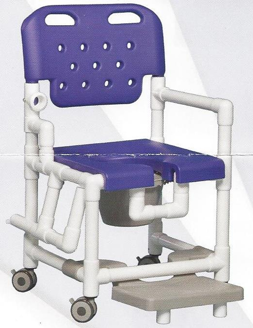 Elite Rolling Shower Chair With Drop Arm And Footrest - CareProdx