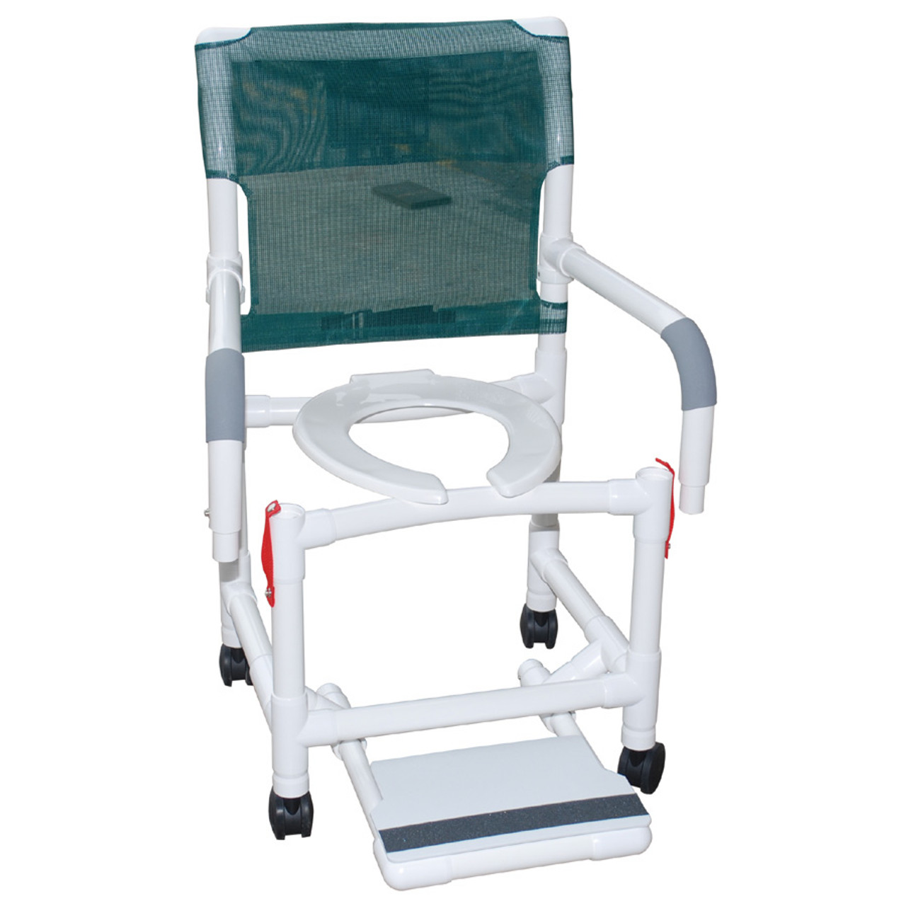 Rolling Shower Chair Dual Drop Arms Plus Footrest - CareProdx