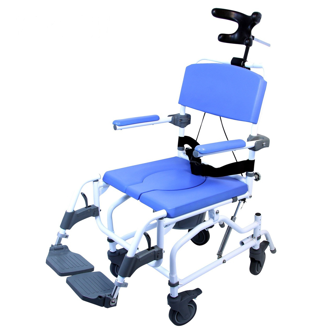Roll In Shower Chair With Tilt Raz AT Rehab Commode Chair Raz ...