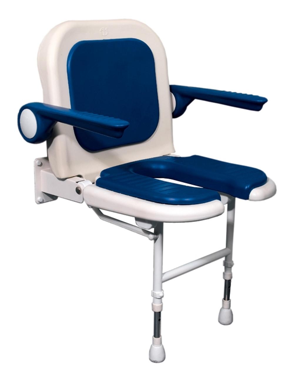 Fold Up Shower Seat Hygiene Cut Out - CareProdx