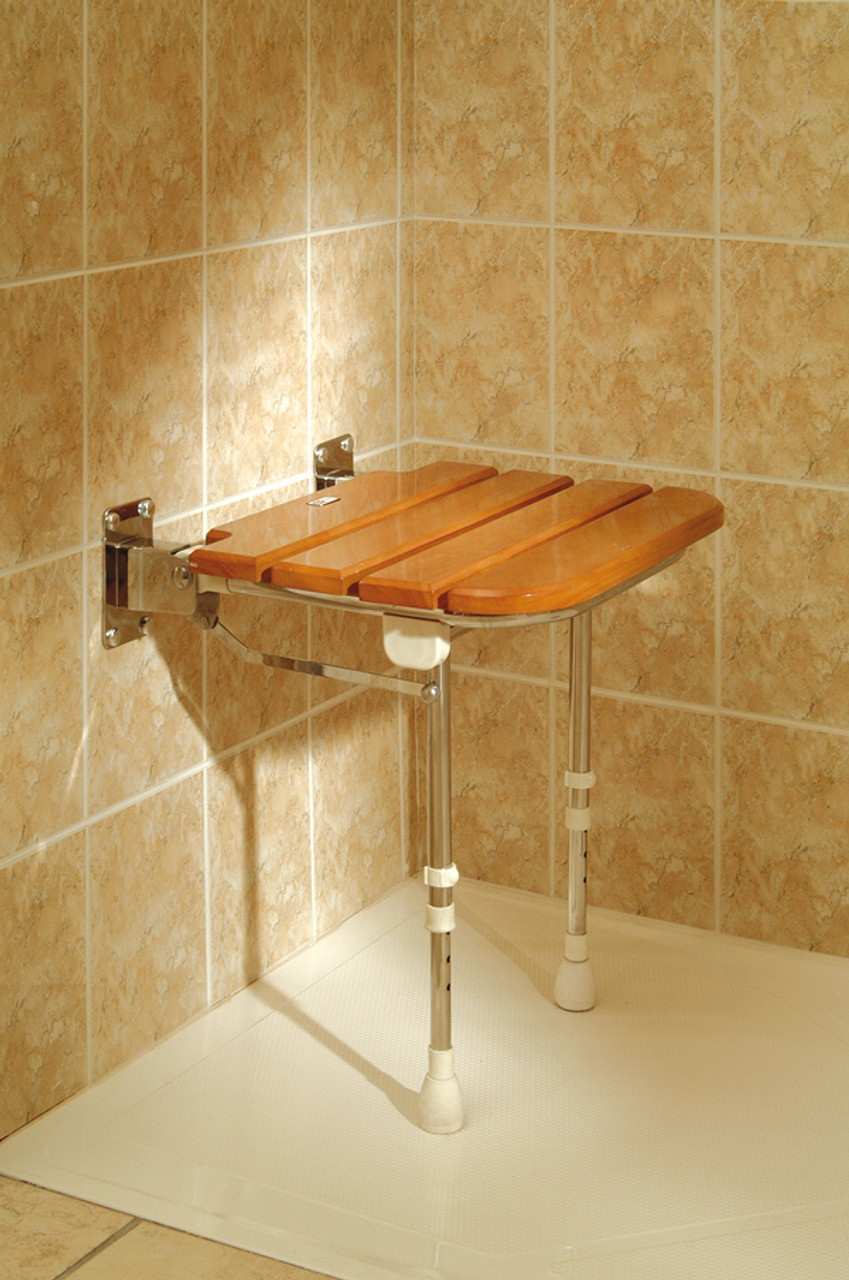 Wooden Wall Mounted Shower Seat - CareProdx