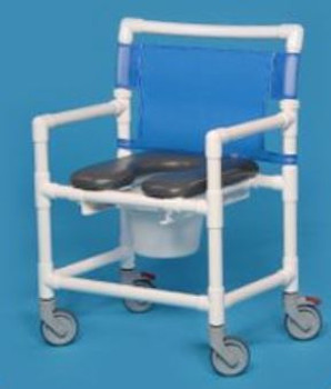 Extra Wide Shower Commode Chair With Optional Pail