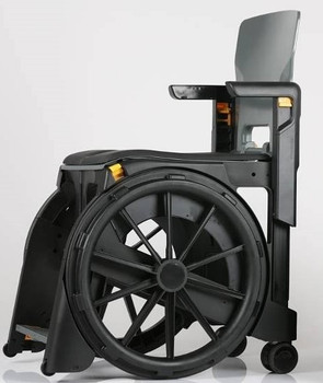 Folding Shower Commode Wheelchair