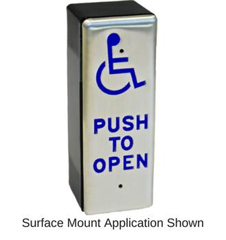 "Slender Push Plate Actuator 1-3/4"""