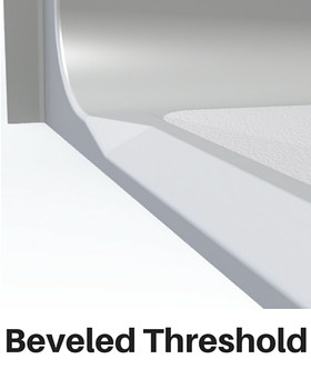 Barrier Free Beveled Threshold