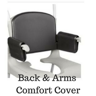 Padded Back and Arm rests for Shower Wheelchair by ETAC