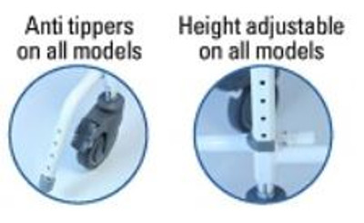 Standard Anti-Tippers. Height Adjustable