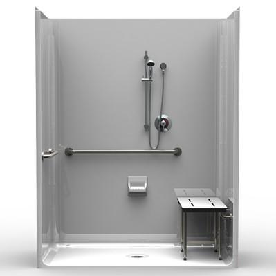 4 Piece ADA Shower 63 X 31 with Beveled Threshold