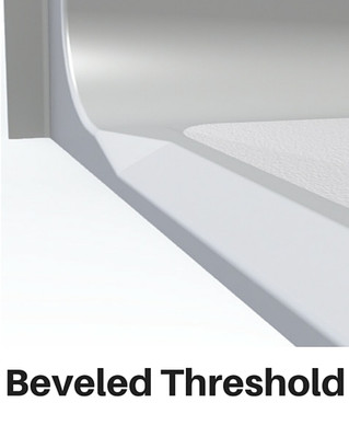 Barrier Free Shower Beveled Threshold