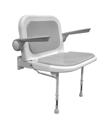Deluxe Wide Fold Up Shower Seat With Arms