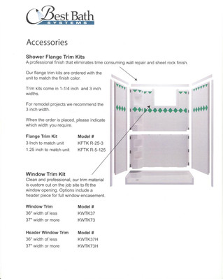 Flange Trim Kit For Handicap Showers