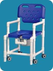 Extra Tall Anti-Tip Shower Commode Chair - CareProdx