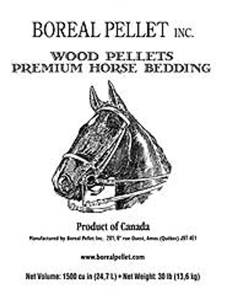Boreal Wood Pellet Horse Bedding, 30 Lb