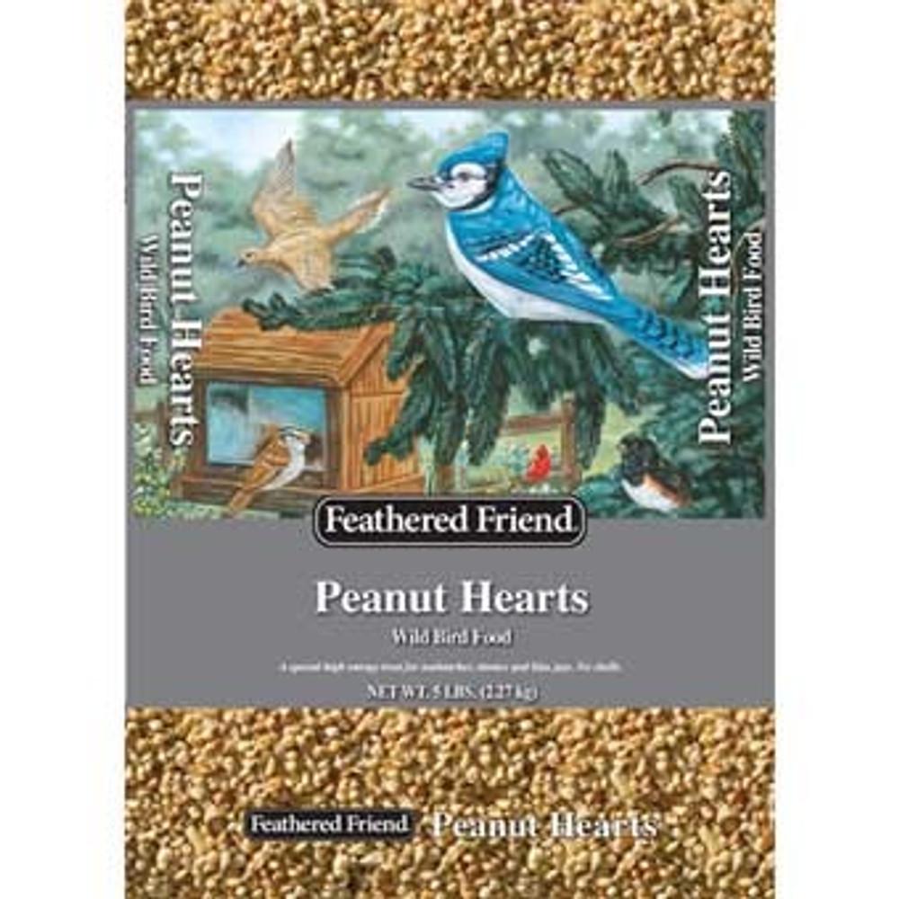Feathered Friend, Peanut Hearts Wild Bird Food, 5 Lb