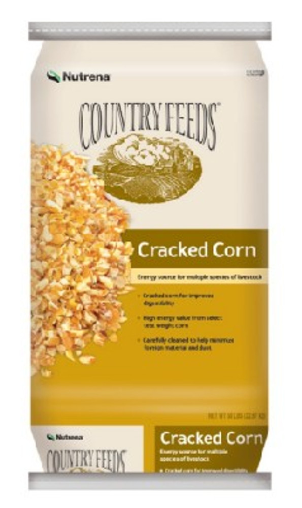 Country Feeds Cracked Corn, 50 Lb