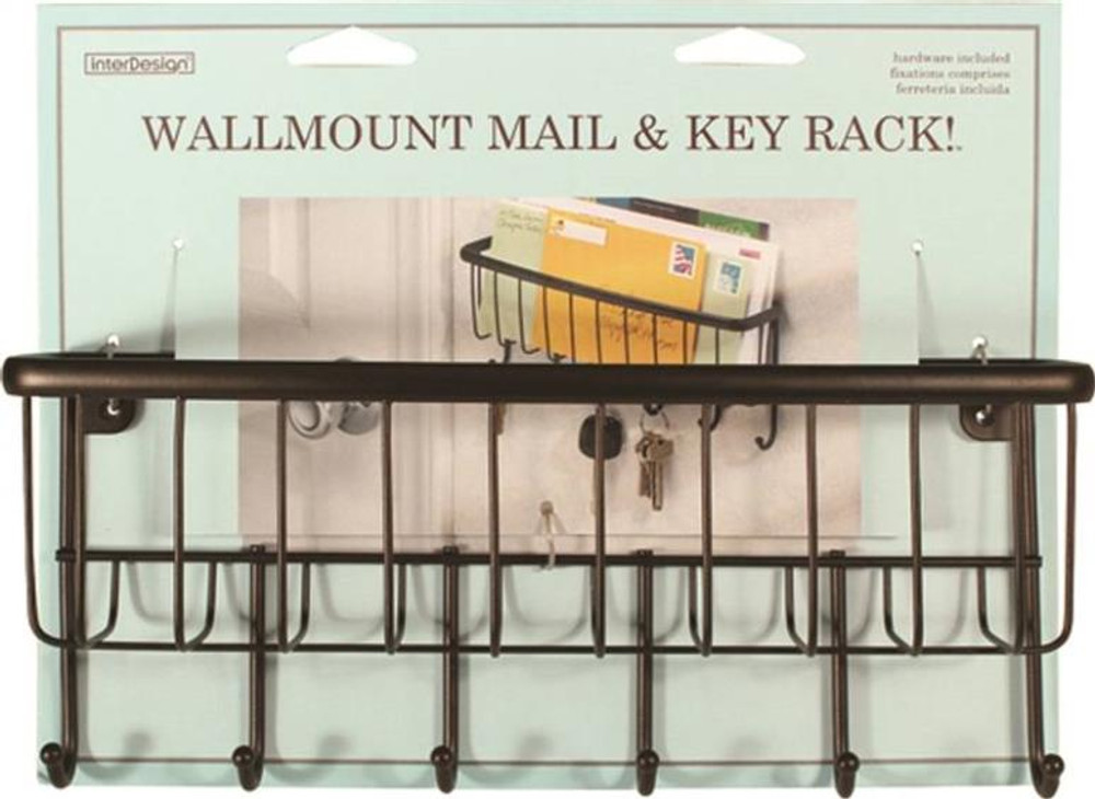 Wall Mount Mail & Key Rack