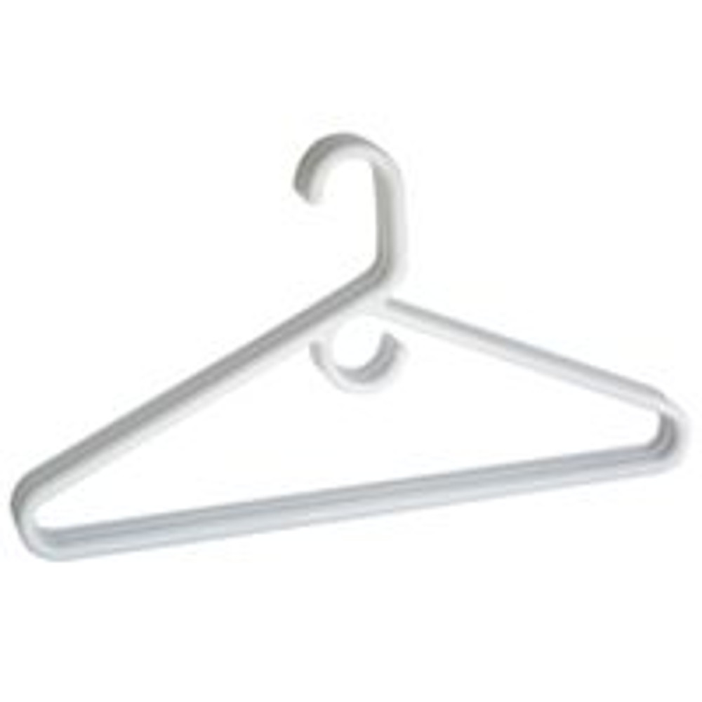 Clothes Hanger, Plastic Tubular, 3 Pack