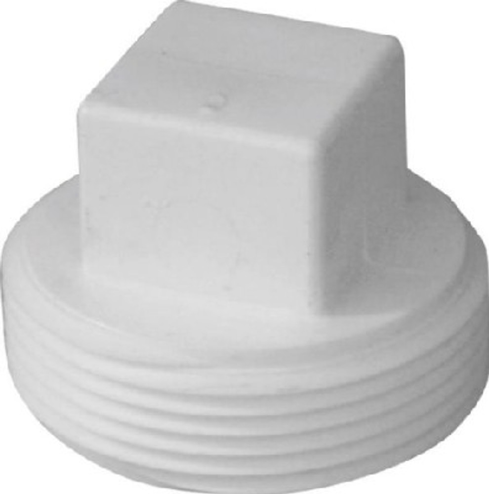 "PVC DWV, 2"", Threaded Plug, PVC"
