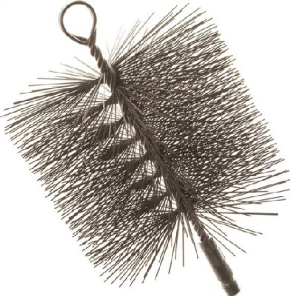 "Chimney Cleaning Brush, 6"" x 6"",Square, Wire Bristle Trim"
