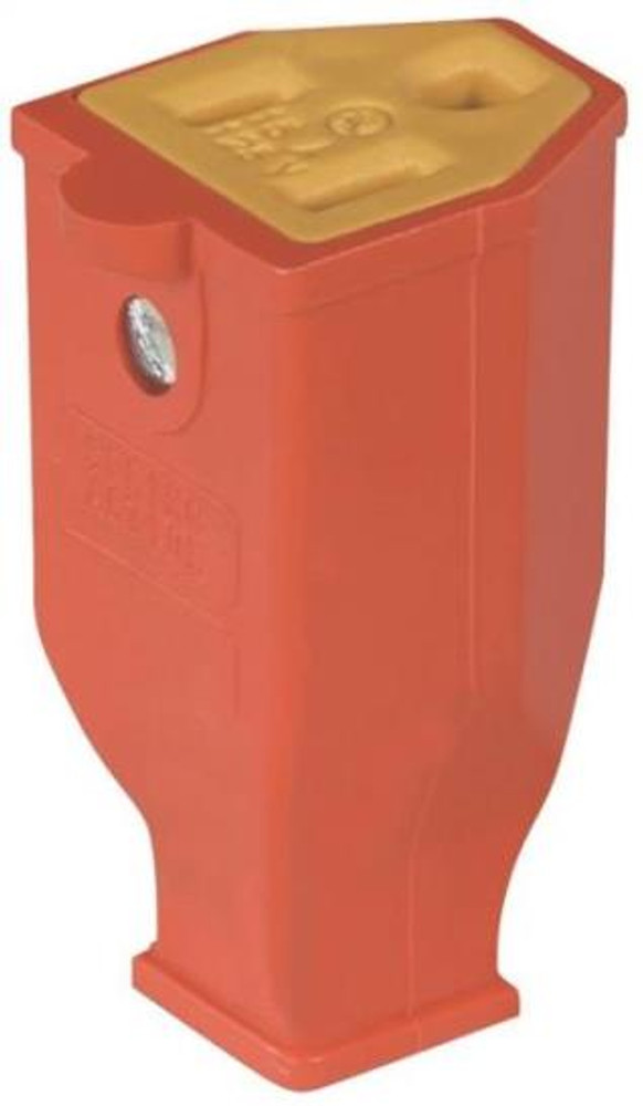 AC Replacement Connector, Grounded, Orange