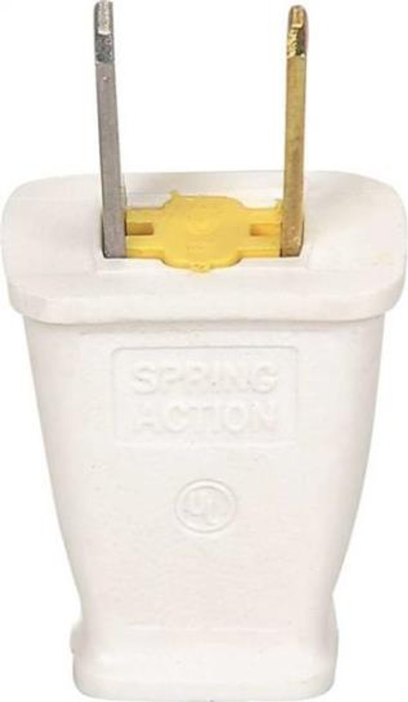AC Replacement Plug, Polorized, White