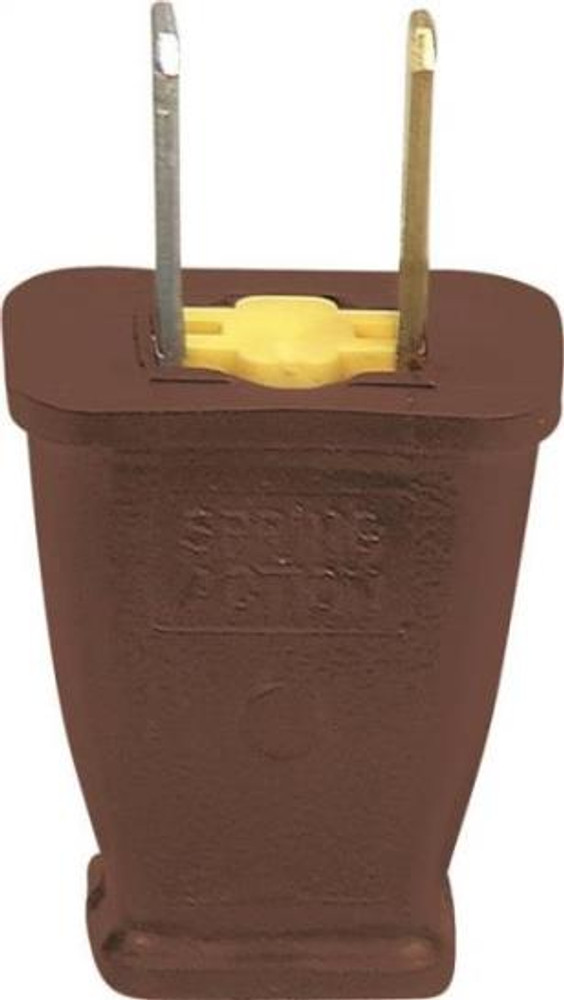 AC Replacement Plug, Polorized, Brown