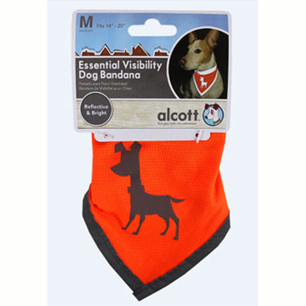 Dog Bandana, Neon Orange, Medium