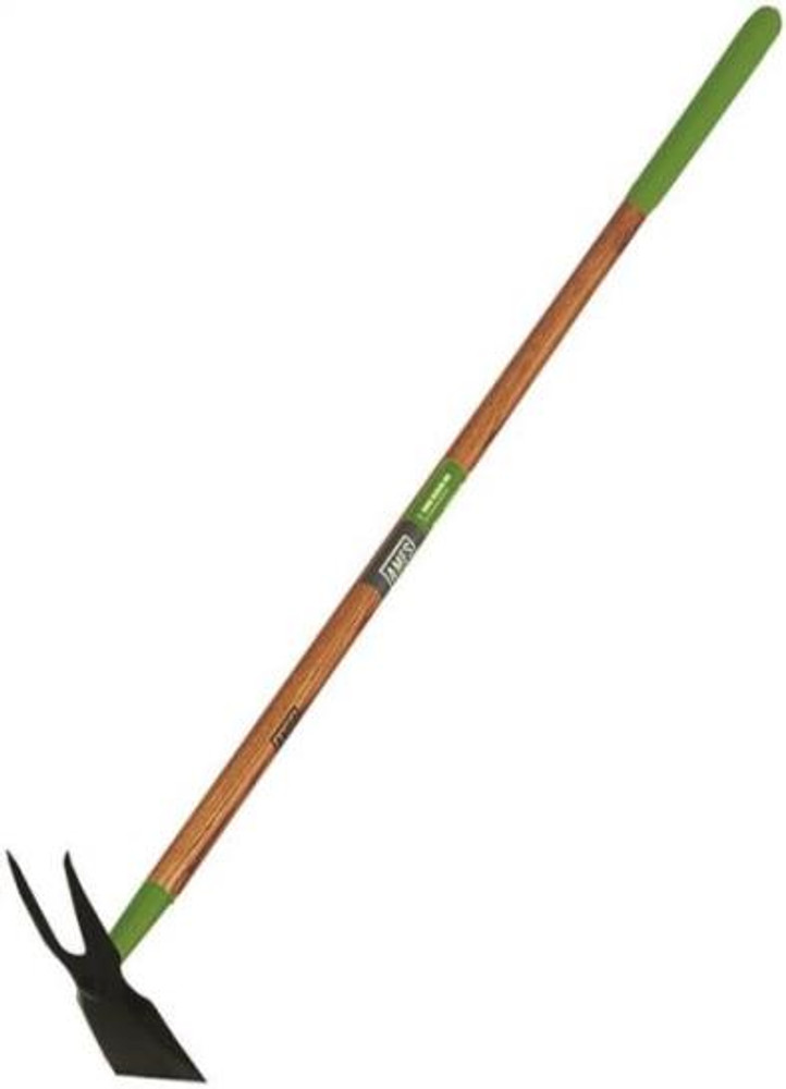 "2 Prong Weeding Hoe, 9-"" X 3-1/2"" 2 Prong Blade, 54"" Wood Handle"