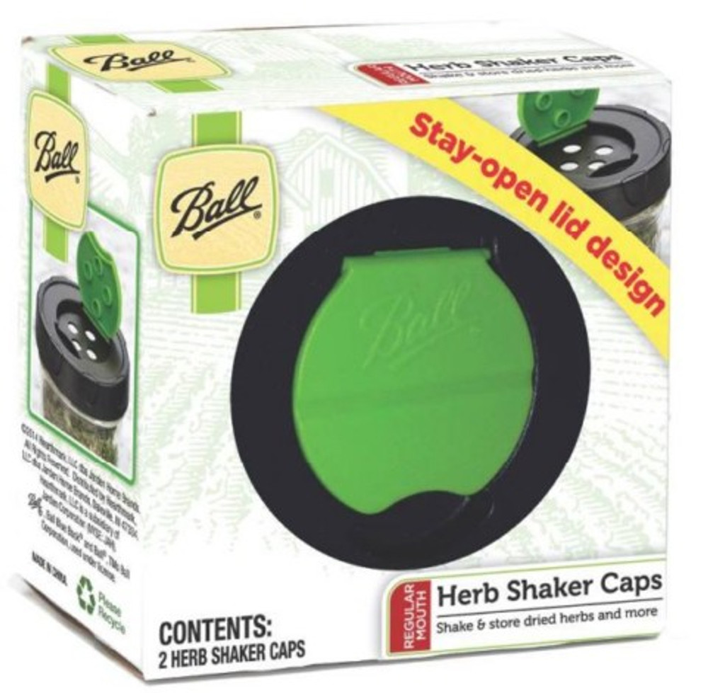 Ball, Herb Shaker Canning Lid, Regular Mouth, 2 Pack