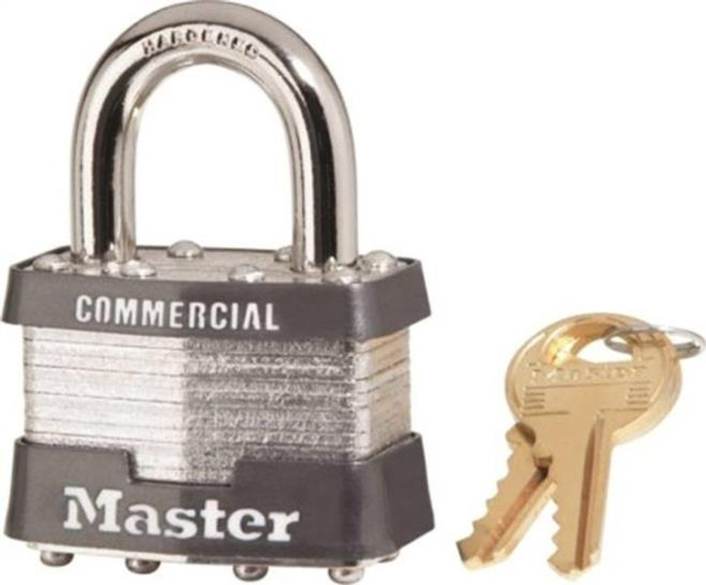 Master Lock, 1 KA # 2402, Pad Lock, Keyed Alike, With 2 Keys