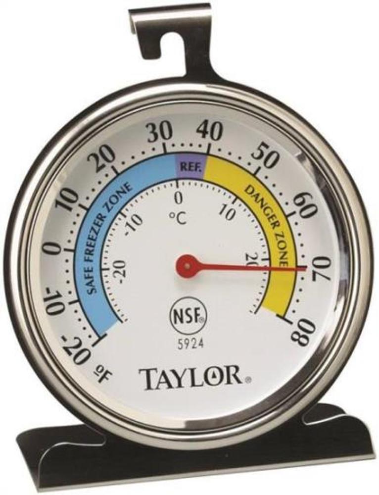 Thermometer, Refrigerator/Freezer, -20 - 80 Deg F, Round
