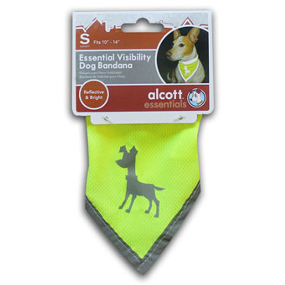 Dog Bandana, Neon Yellow, Small