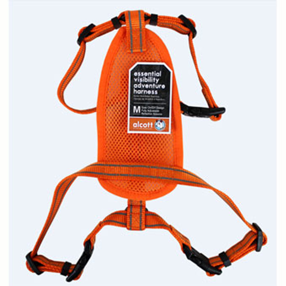 Dog Harness, Neon Orange, Medium