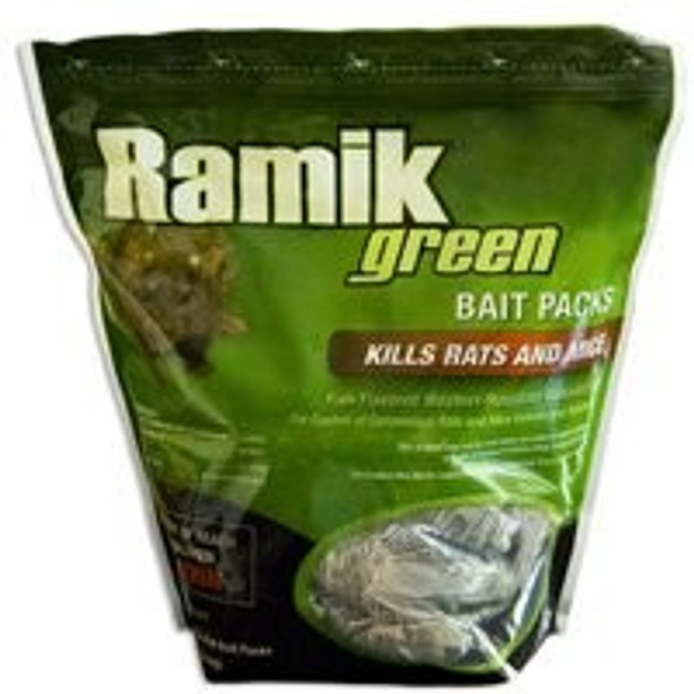 Ramik, Green Rat/Mouse Bait Packs, 16 Four Oz Packs