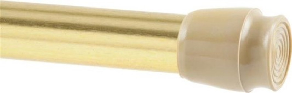 "Spring Tension Rod, 5/8"" Dia, 28-48"", Brass Plated"