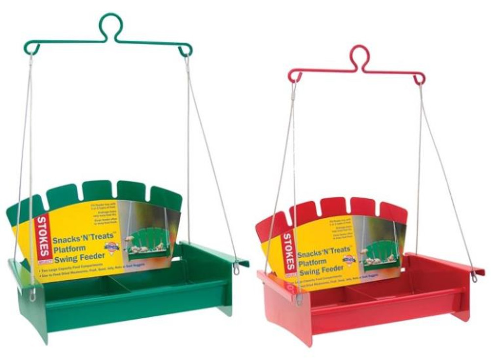 Bird Feeder, Snack 'N' Treats Platform Swing Feeder