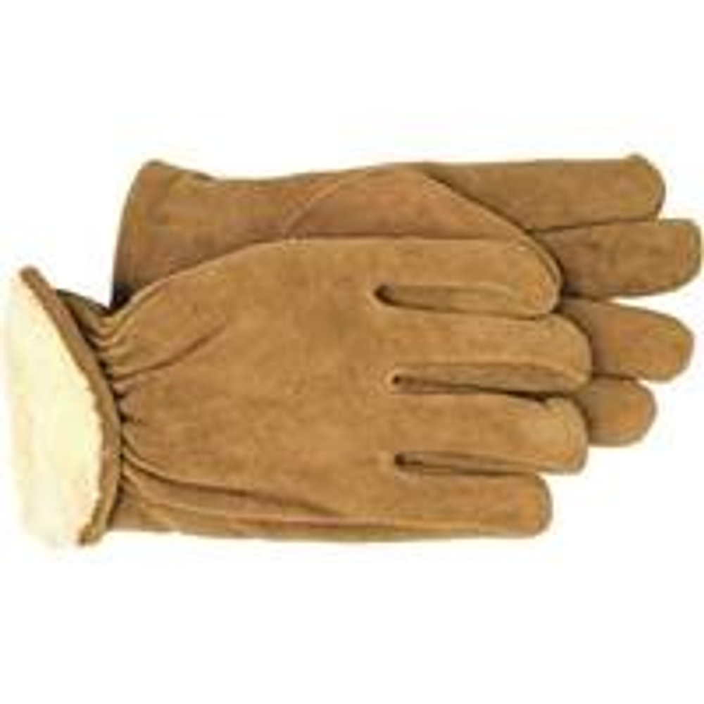 Gloves, Mens Leather Driver Glove, Lined, Medium