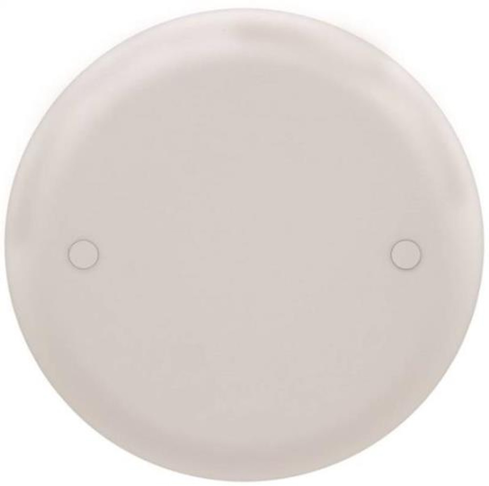 Ceiling Box Blank Cover, White, Plastic