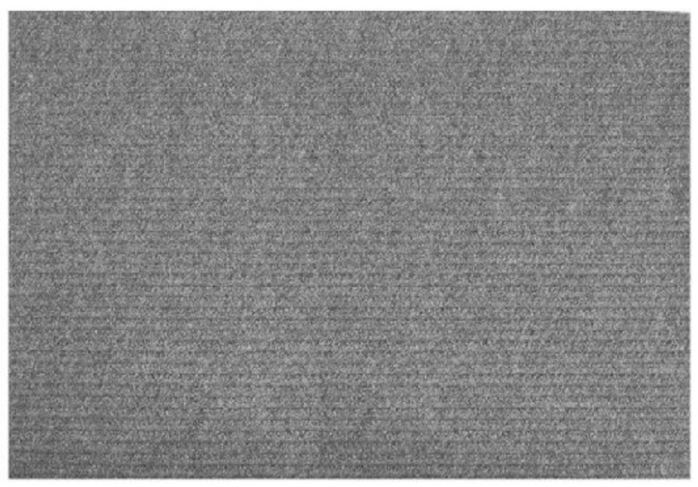 "Floor Mat Charcoal 24 x 36"" Rubber Backed"