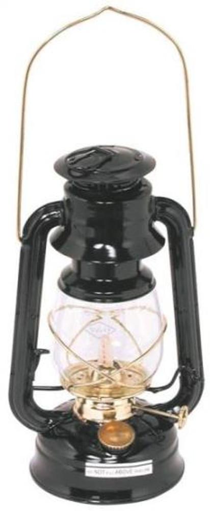 Hurricane Oil Lantern, No.76, Black With Brass Trim