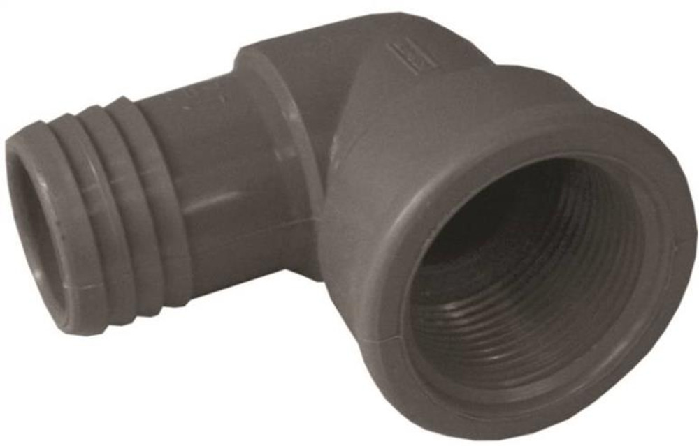 "Barbed Tube Fittings, 1-1/4"", Elbow x FPT, Polypropylene"