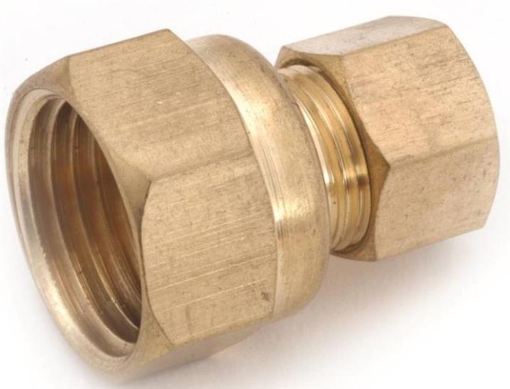 """Compression Fittings, 1/2"""", Adapter x 3/4"""" FPT, Brass"""