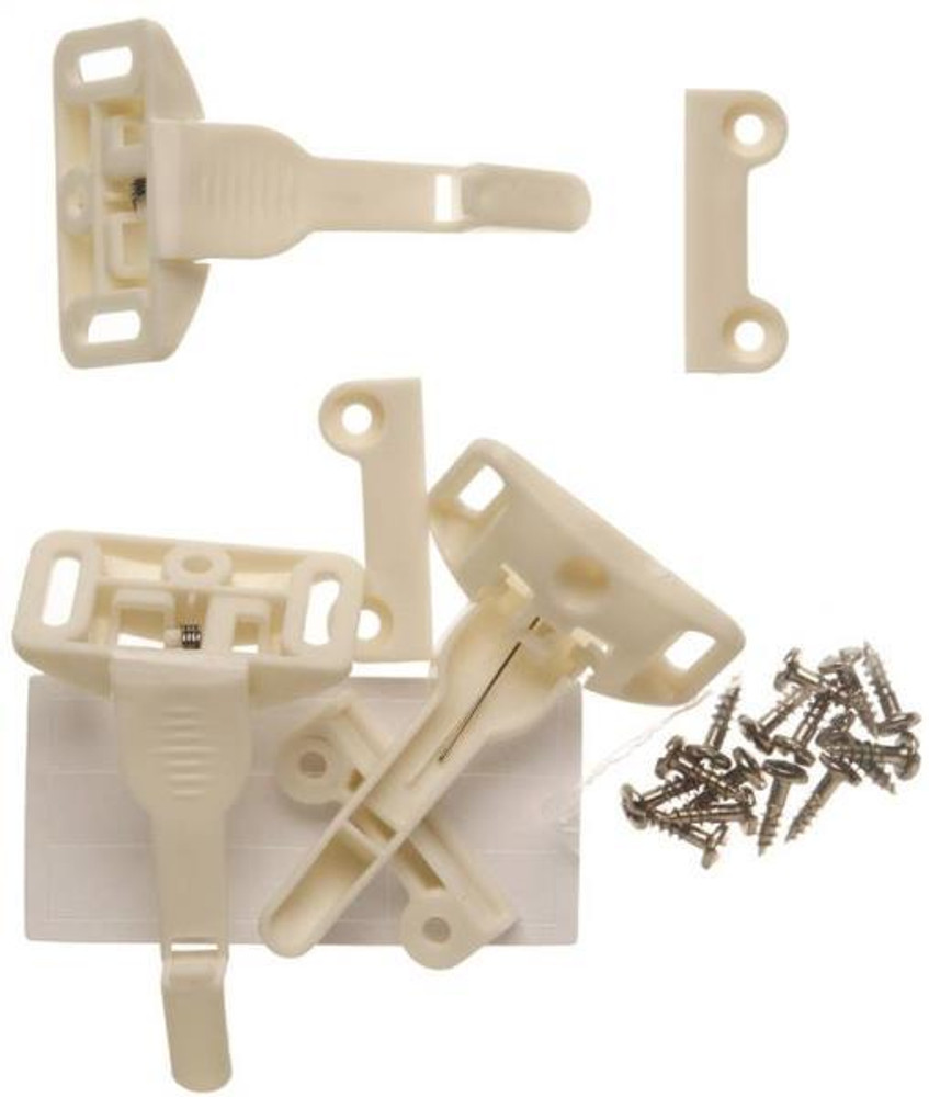 Child Safety, Cabinet & Drawer Spring Latch,  3 Pack