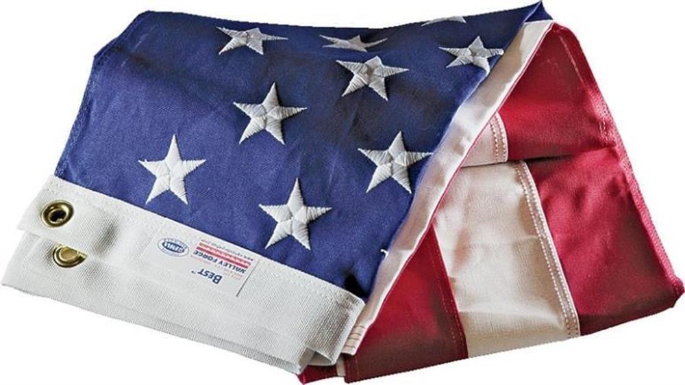US Flag,  3' x  5', Cotton, Sewn Stars & Stripes