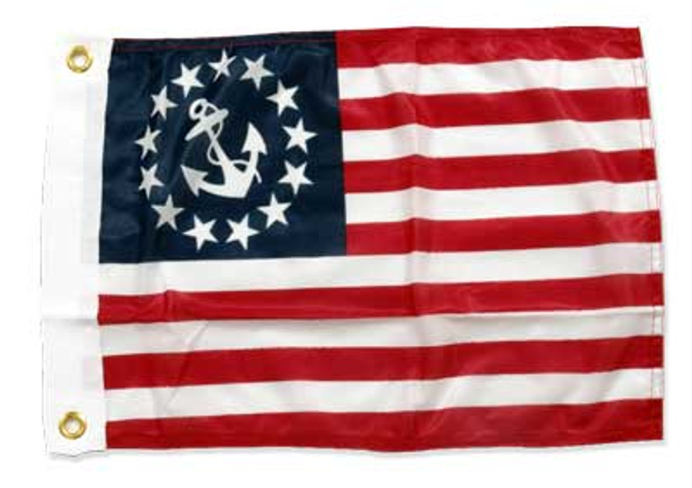 """US Yacht Ensigns Flag, 12"""" x 18"""""""